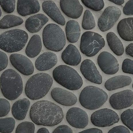 Nobil Stone Mozaïek Fiumi Reno nero-0