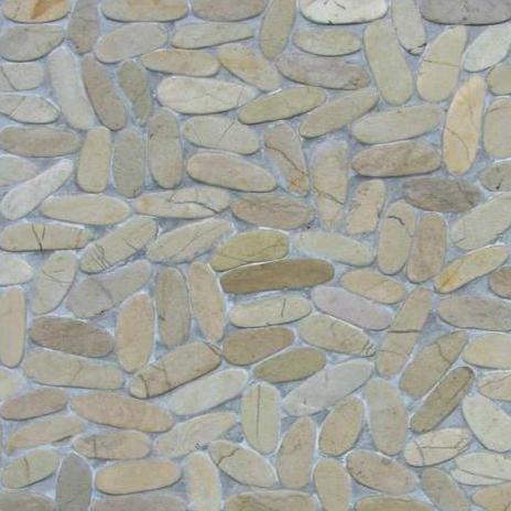 Nobil Stone Mozaïek Fiumi Vellutati Tevere bianco-0